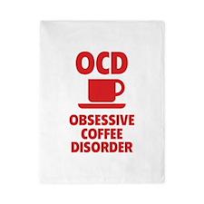 OCD Obsessive Coffee Disorder Twin Duvet
