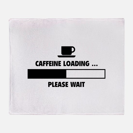 Caffeine Loading ... Please Wait Throw Blanket