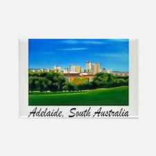 Adelaide City Skyline Rectangle Magnet