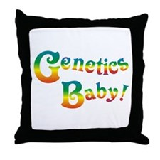 Genetics Baby! Throw Pillow