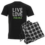 Live Love Reiki Men's Dark Pajamas