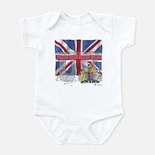 Silky Flag of UK Infant Creeper
