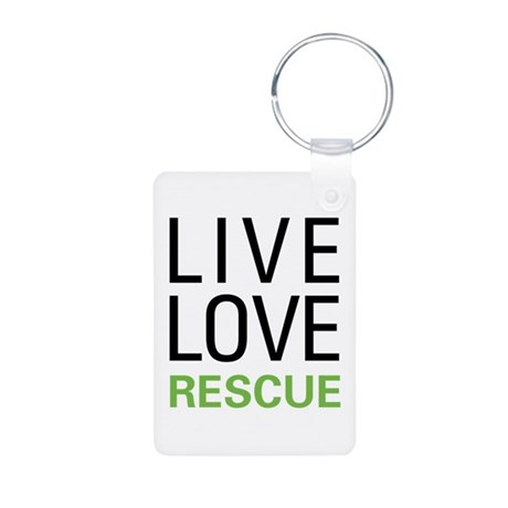 Live Love Rescue Aluminum Photo Keychain