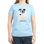 Brindle Whippet Breed Women's Pink T-Shirt