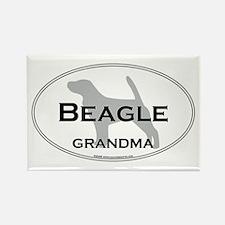 Beagle GRANDMA Rectangle Magnet