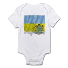 Silky Flag Ukraine (Cyr.) Infant Bodysuit