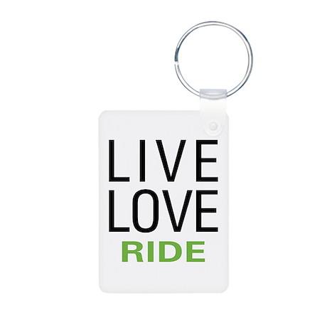 Live Love Ride Aluminum Photo Keychain