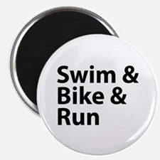 "Swim & Bike & Run 2.25"" Magnet (10 pack)"