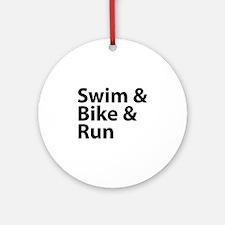 Swim & Bike & Run Ornament (Round)