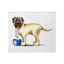 Mastiff Drool Throw Blanket
