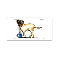 Mastiff Drool Aluminum License Plate