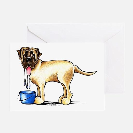 Mastiff Drool Greeting Card