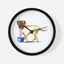 Mastiff Drool Wall Clock
