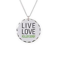 Live Love Roller Derby Necklace