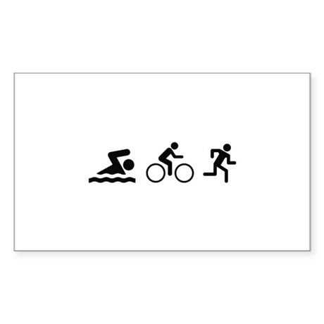 Triathlon Sticker (Rectangle)
