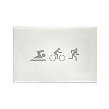 Triathlon Rectangle Magnet (100 pack)