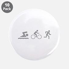 """Triathlon 3.5"""" Button (10 pack)"""