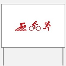 Triathlon Yard Sign
