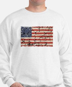 13 Colonies US Flag Distressed Sweatshirt