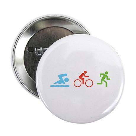 """Triathlon 2.25"""" Button (10 pack)"""