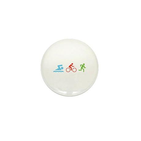 Triathlon Mini Button (10 pack)