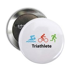 "Triathlete 2.25"" Button"