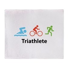 Triathlete Throw Blanket