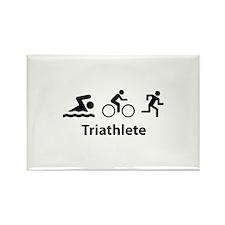 Triathlete Rectangle Magnet (10 pack)