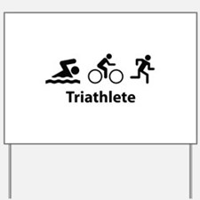 Triathlete Yard Sign