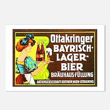 Austria Beer Label 2 Postcards (Package of 8)
