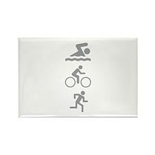 Triathlete Rectangle Magnet (100 pack)