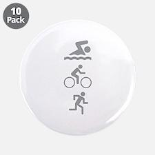 """Triathlete 3.5"""" Button (10 pack)"""