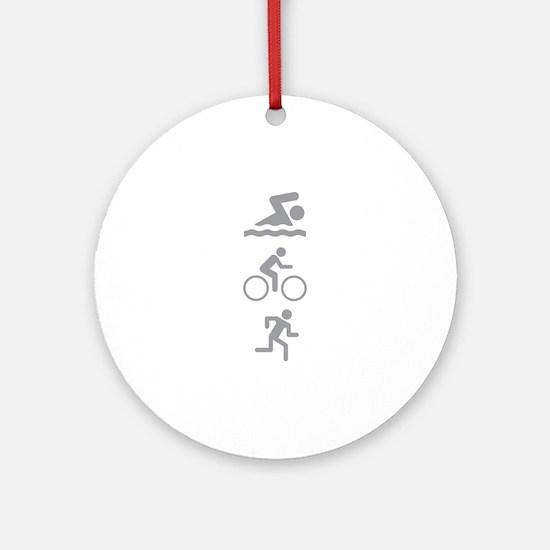 Triathlete Ornament (Round)
