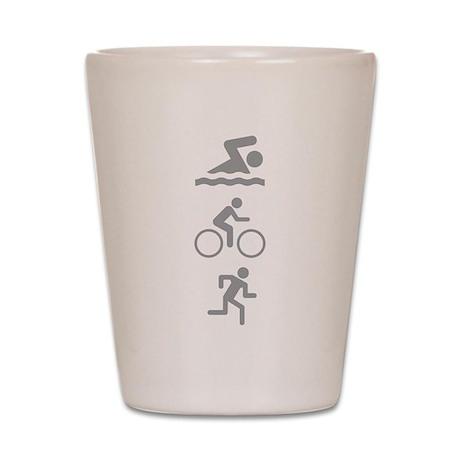 Triathlete Shot Glass