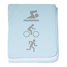 Triathlete baby blanket
