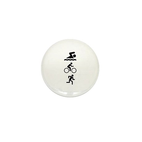 Triathlete Mini Button (10 pack)
