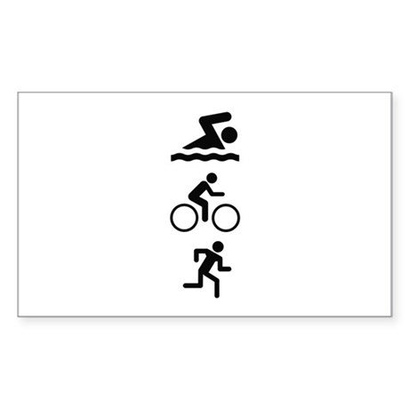 Triathlete Sticker (Rectangle)