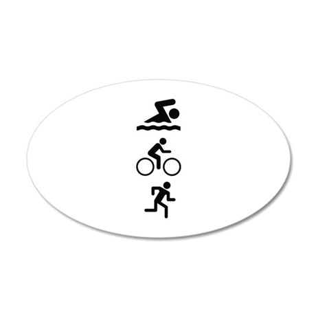 Triathlete 22x14 Oval Wall Peel