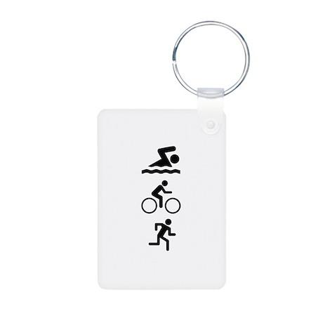 Triathlete Aluminum Photo Keychain