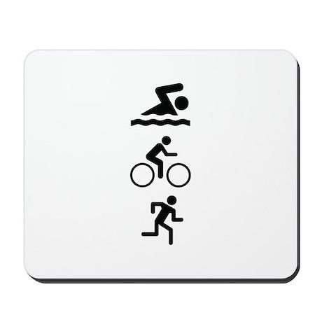 Triathlete Mousepad
