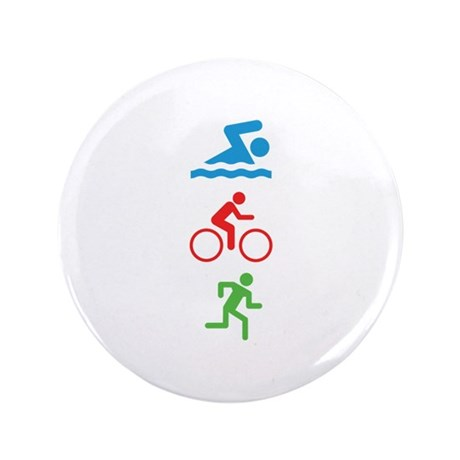 "Triathlete 3.5"" Button"