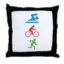 Triathlete Throw Pillow
