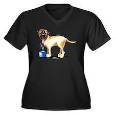 Mastiff Drool Women's Plus Size V-Neck Dark T-Shir