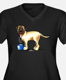 Mastiff Drool Women's Plus Size V-Neck Dark T-Shir