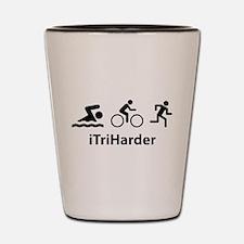 iTriHarder Shot Glass