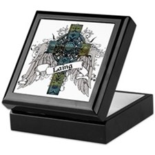 Laing Tartan Cross Keepsake Box