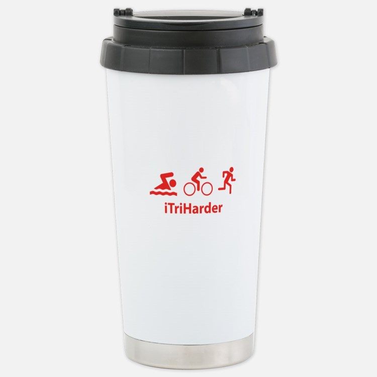 iTriHarder Travel Mug