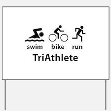 Swim Bike Run TriAthlete Yard Sign
