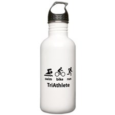 Swim Bike Run TriAthlete Water Bottle
