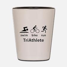 Swim Bike Run TriAthlete Shot Glass